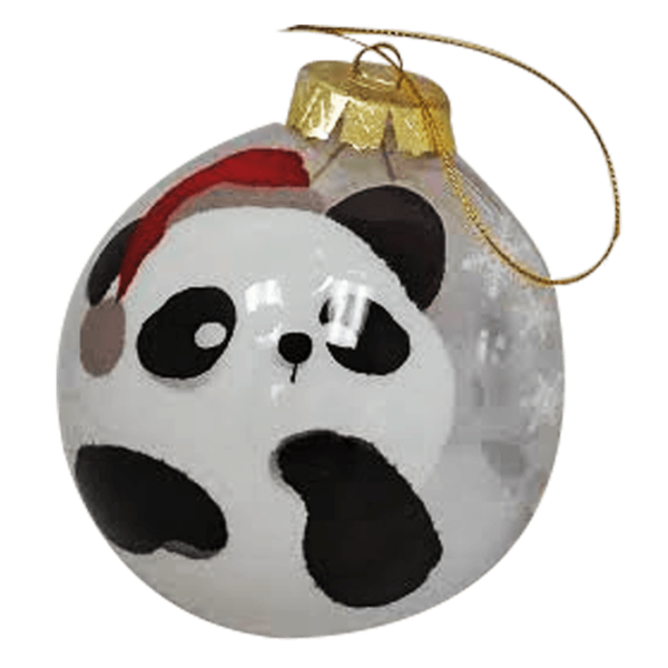 Limited Edition Panda Xmas Ornament